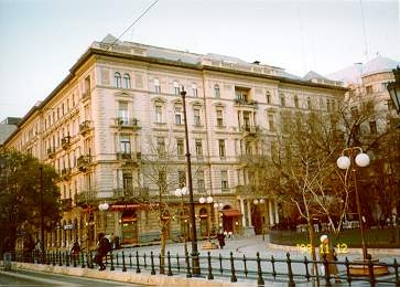 building in the centre of Budapest, where the flat is